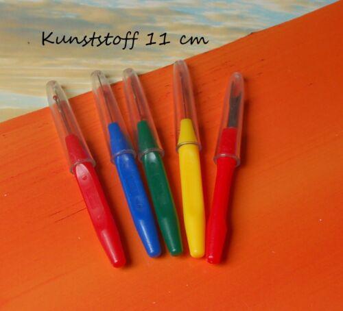 1 Stück Nahttrenner Kunststoff 11 cm mit Schutzhülle farbig