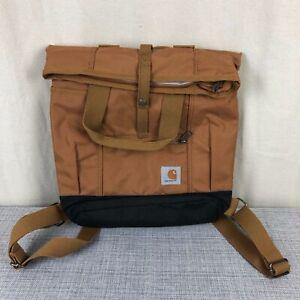 NWOT-Carhartt-Unisex-Brown-Canvas-Hybrid-Backpack-Tote-Bag