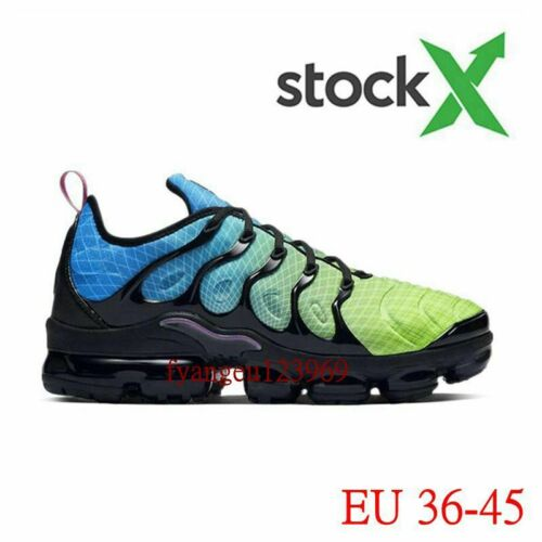 Mens TN Vapor Sneakers Air Cushion VM In Metallic Olive Trainers Running Shoes
