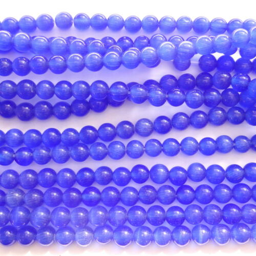 16 Inch Strand Cats Eye Round Beads 4mm 6mm 8mm Choose Colour