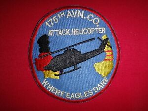 Vietnam-War-Patch-US-175th-Aviation-Co-Attack-Helicopter-WHERE-EAGLES-DARE