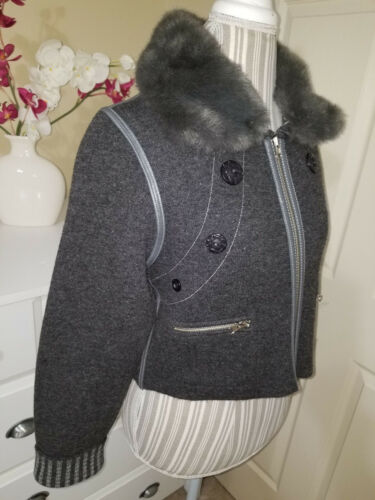 m grigio Bolini Saf zip Reversibile maglione Yeni Sz Yün s Woolmark giacca Sementa SHH67YT