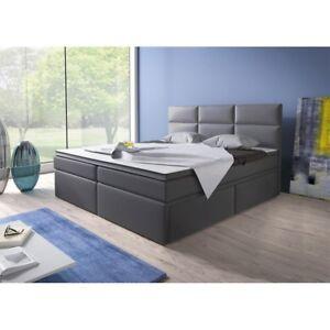 boxspringbett doppelbett hotelbett amsterdam180x200 cm mit schubladen schwarz ebay. Black Bedroom Furniture Sets. Home Design Ideas