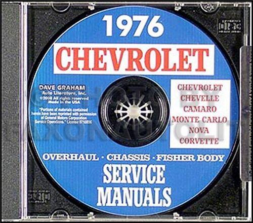 1976 CD Shop Manual Camaro Nova Corvette Impala Caprice