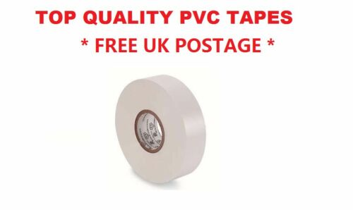 WHITE PVC Tape 20Mx19mmx0.15mm for Electrical Insulation Racket &Socks