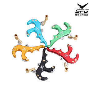 Compound Bow 4 Finger Grip Caliper Arrow Release Aids Hunting Shooting Tool