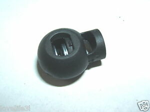 1BLACK-SPRING-LOADED-PLASTIC-ROUND-TOGGLE-STOPPER-CORD-LOCK-END-DRAWSTRING-BRAKE