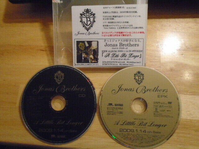 VERY RARE JAPAN ADV PROMO Jonas Brothers CD + DVD A Little Bit Longer NICK Joe !