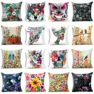 Art-Cotton-Linen-Throw-Pillow-Case-Sofa-Waist-Cushion-Cover-Home-Decor