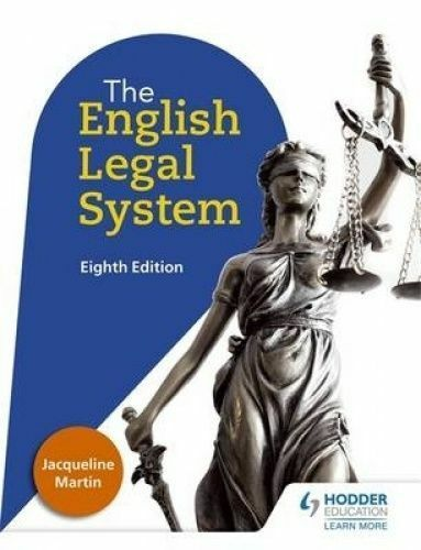 English Legal System Eighth Edition by Martin, Jacqueline (Paperback book, 2016)