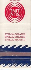Sun Line Ship Stella Oceanis Stella Solaris Stella Maris II Vintage Matchcover