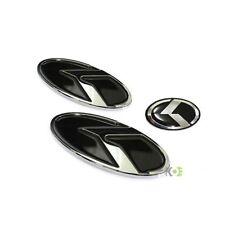 KIA SOUL [10-14] 3D K LOGO Emblem Badge 3pc SET Front Grill+Rear Trunk+Steering