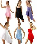 White Black Blue Purp Pink Red Yellow Lyrical Modern Dance Costume 8 10 12 14 16