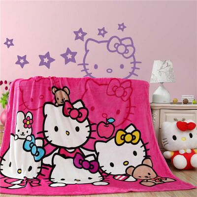 Cute Hello Kitty Family Blanket Soft Plush Bedroom Blanket Throw Cover 150*200cm