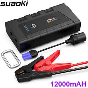 Details About Suaoki U8 1000a Peak 12000mah Portable Car Jump Starter Waterproof Quick Charger