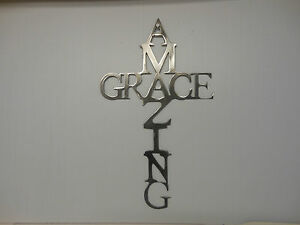 Amazing Grace Wall Art amazing grace cross mild steel plasma cnc cut country wall decor