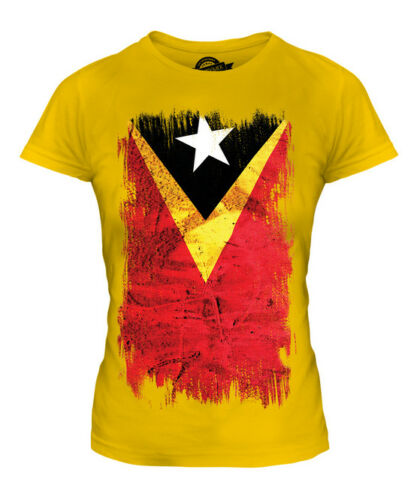 Timor oriental grunge drapeau femmes t-shirt homme timor Lorosa timoraise du timor-leste