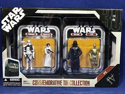 Sandtrooper Leia Vader C-3PO Commemorative Tin Collection Exclusive Hasbro 2006
