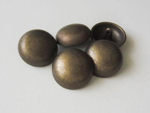 5 courbée altmessingfarbene métal œillets boutons avec schraffierung 2153am-23