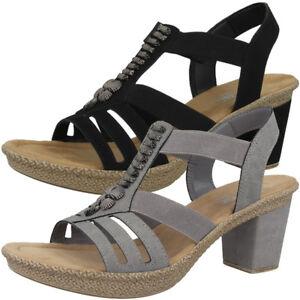 Details zu Rieker Women Absatz Sandalen Damen Antistress Schuhe Sandaletten Pumps 66506