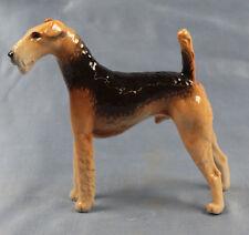 Airdale Terrier  Porzellanfigur hund hundefigur  porzellan nymphenburg figur rar