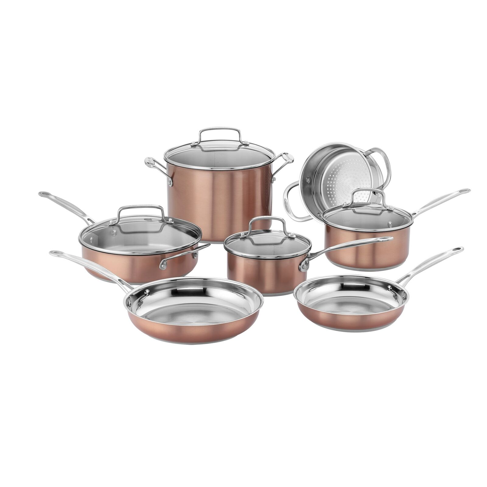 Cuisinart CSS-11BU 11pc Set Stainless Farbe Blaushaccs Chefs Classic Cookware Set