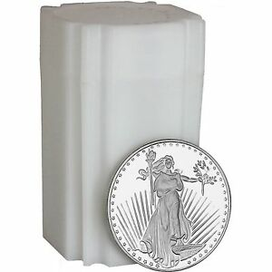 Saint-Gaudens-1oz-999-Silver-Medallion-by-SilverTowne-LOT-OF-20