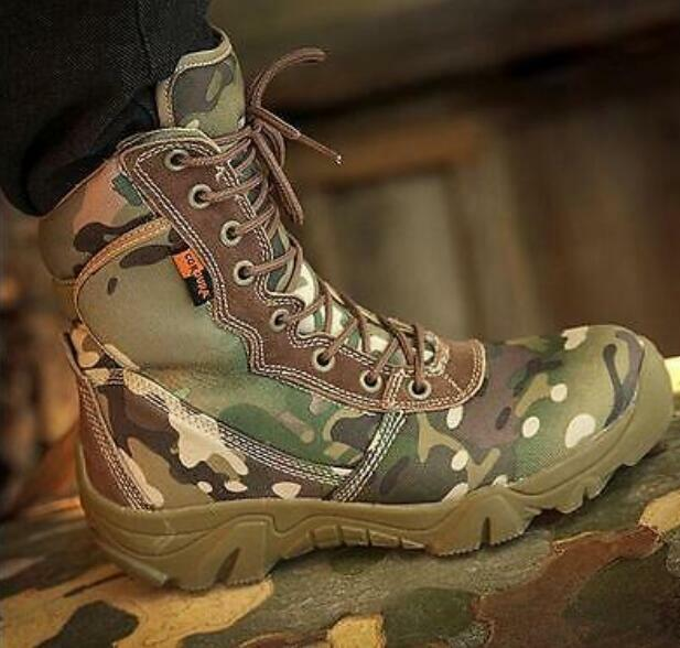 Mens shoes Military Tactical Desert Camo Lace Up  Outdoor Combat Ankle Boots Sz@