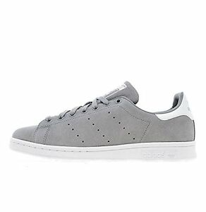 e9ef4893e56d ... Adidas-Originals-Stan-Smith-en-daim-gris-Taille-