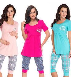 Stillpyjama Stillschlafanzug Umstandspyjama 100% Baumwolle Mama Pyjama sets 10