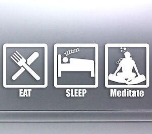 Eat-Sleep-Meditate-Vinyl-cut-Car-Sticker-270-x-100-mm-Scuba-Diver-Aussie-Made