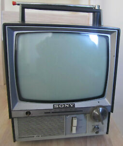 Details about Sony 9-306UB Retro Vintage Television BW Black White TV 1960s  Sgt Pepper's cover