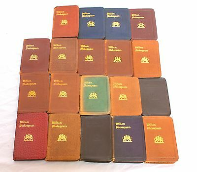 MAGNIFICENT 19 VOLUMES OF 19c  SHAKESPEARE MINIATURE BOOKS MUST SEE