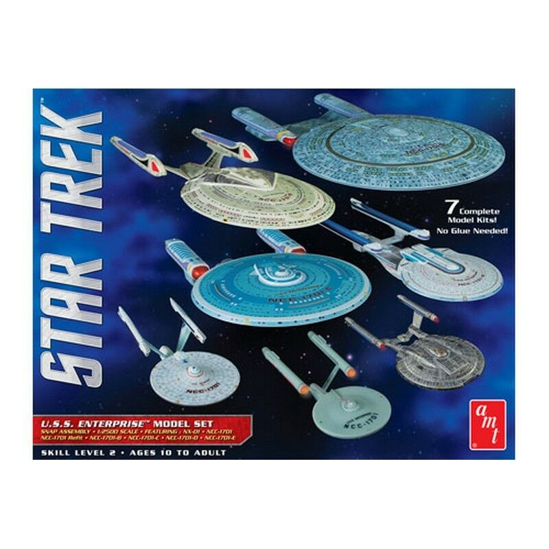 Amt Models Amt954 1 2500 Star Trek Uss Enterprise Scatola Set Snap