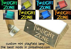 Twilight-Zone-Pinball-Mod-Personalizado-Mini-magneticamente-Lampara-Disponible-Listo-Para-Enviar