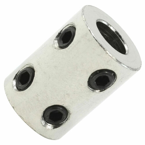 6mm x 8mm Bore Stainless Steel Robot Motor Wheel Coupling Coupler 6mm to 8mm