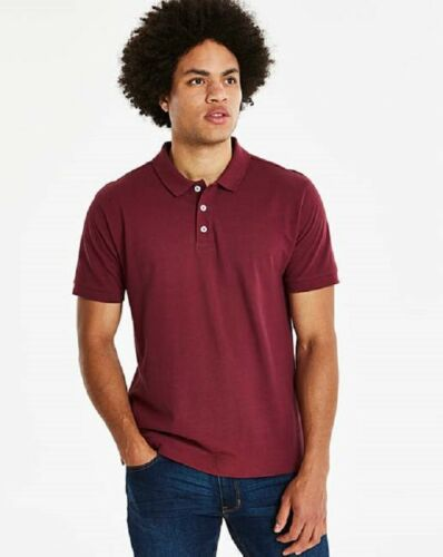 Mens berry dark red purple cotton polo shirt from Jacamo sizes s to 5xl new