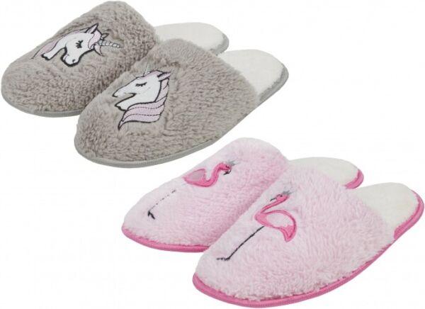 Acquista A Buon Mercato Nuovo Con Confezione-unicorno Memory Foam Pantofole Grigio Tg 3-8 - Gratis Per Uk Solo
