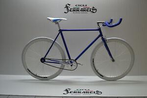 Cicli Ferrareis Fixed Bike Single Speed Bici Single Speed Bici Scatto Fisso Nero Blu Personalizzabile