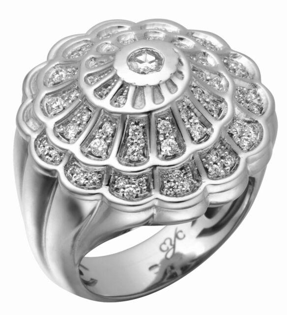New! Authentic Carrera Y Carrera Afrodita 18k White Gold Diamond Ring $10,500