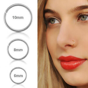Women-Cute-Surgical-Steel-Thin-Small-Nose-Lip-Ring-Hoop-Cartilage-Piercing-Studs