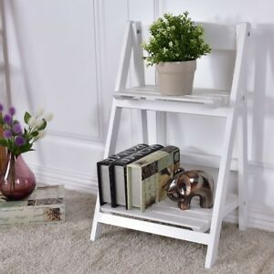 Image Is Loading 2 Tier Home Folding Wooden Flower Plants Stand