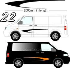 Graphic Decals Self Adhesive Vinyl Stickers Any Vehicle VW Campers Motorhome D22