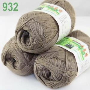 Sale 3ballsx50g Bamboo Cotton Baby Hand Knitting Scarf Wrap Yarn