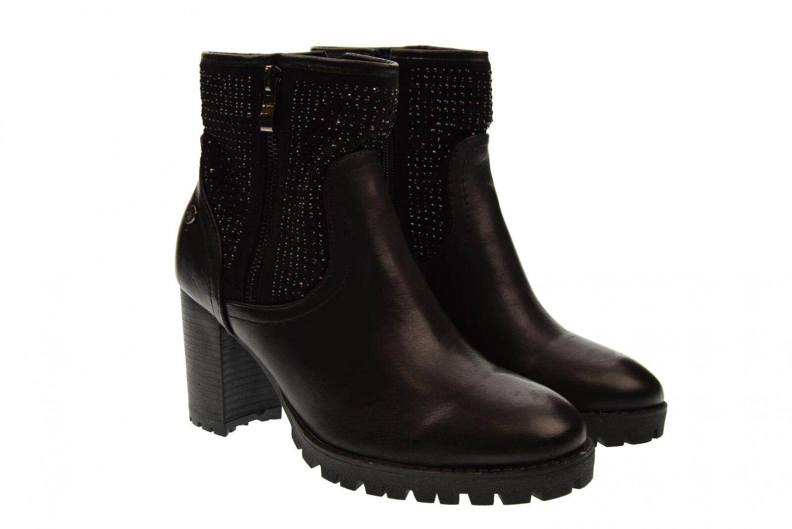 Xti a18g zapatos señora botines 48468 negro