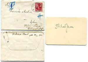 RICHARD-STRAUSS-orig-Autogramm-mit-Umschlag-Autograph-hand-signed-envelope