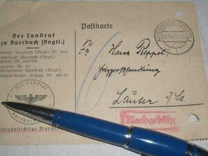 Postkarte-Briefpost-Auerbach-vogtl-1942-Lauter-Sachsen