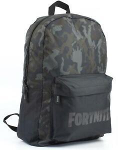 Fortnite-Character-Camo-Llama-All-Over-Print-Black-Khaki-Backpack-Bag
