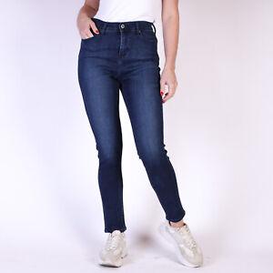 Levi-039-s-512-Perfectly-Slimming-dunkellau-Damen-Jeans-DE-36-W28-L32
