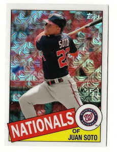 2020-TOPPS-SERIES-1-JUAN-SOTO-1985-TOPPS-SILVER-PACK-CHROME-CARD-NATIONALS